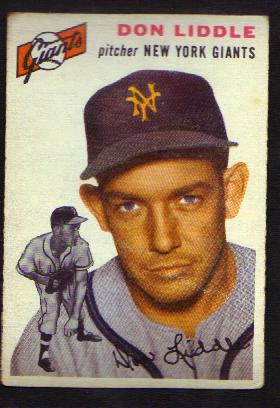 Don Liddle - 1954 Baseball Card